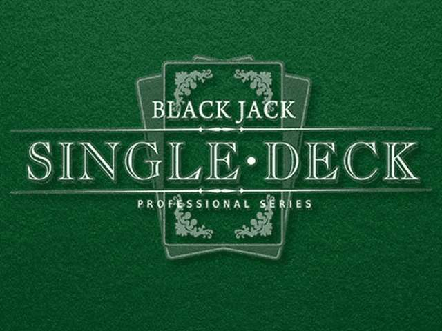 Блэкджек Single Deck Blackjack Professional Series